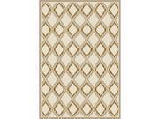 Art Carpet 24507 4 x 6 ft. Milan Collection Hopscotch Woven Area Rug, Light Beige 9SIV06W6NH9836