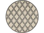 Art Carpet 24644 8 ft. Milan Collection Hopscotch Woven Round Area Rug, Gray 9SIA00Y6NE0787