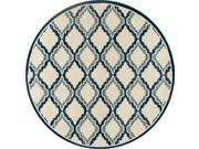 Art Carpet 24729 5 ft. Milan Collection Hopscotch Woven Round Area Rug, Light Beige 9SIV06W6NF2924