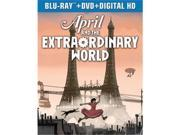 Universal Studios MCA BR44180344 April & The Extraordinary World - Blu Ray & DVD Combo 2 Discs 9SIV06W6X24392