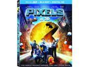 Sony Pictures Home Entertainment COL BR46398 Pixels 2015-Color Blu Ray 3D Ultraviolet 2 Disc 9SIV06W6X12465