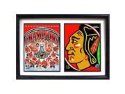 Encore Select 123-81 12 x 18 in. 2015 Stanley Cup Champions Chicago Blackhawks Double Frame Photo 9SIA00Y6WZ9624
