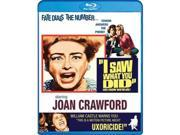 Alliance Entertainment CIN BRSF16675 I Saw What You Did DVD - Blu Ray, Black & White 9SIV06W6X27560