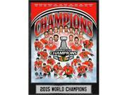 Encore Select 513-80 9 x 12 in. 2015 Stanley Cup Champions Chicago Blackhawks Plaque 9SIA00Y6X05370