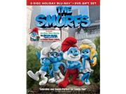 Sony COL BR37694 Smurfs 2011 Blu-Ray & DVD Combo with Christmas Carol Gift Set & 3 Disc - NLA 9SIV06W6X17366