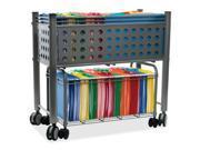 Advantus Corp. VF52000 Smartworx File Cart, One-Shelf, 28-1/4w x 13-3/4d x 27-3/8h, Matte Gray 9B-112-01A4-00007