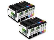 JARBO Replacement For HP 932 933 Ink Cartridges 2Sets+2Black High Yield 10 Packs(4 Black 2 Cyan 2 Magenta 2 Yellow) Compatible With HP Officejet 6700 6600 6100