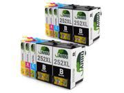 JARBO Replacement for Epson 252 Ink Cartridge High Yield 10 Packs, Worked with Epson Workforce WF 3640 WF 3630 WF 3620 WF 7610 WF 7620 WF 7110 Printer