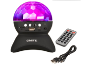 L-740 Disco DJ Stage & Studio Special Effects Lighting RGB Color Changing, LED Crystal Ball Auto Rotating, with Music Player for TF Card Wireless Bluetooth Spea 9SIV0EU4SM5088