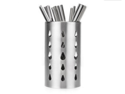 Round Thick Stainless Steel Chopsticks Cage Holder Kitchen Utensil holder 17.5cm Height
