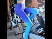 Women's Sexy Yoga Running Pants High Waist Trousers Leggings Fitness Gym Power Space Dye High Waist Yoga Pants Moisture Wicking Athletic Trousers (Size:S/M) 9SIV0EU5BX1607