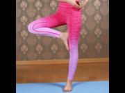 Women's Sexy Yoga Running Pants High Waist Trousers Leggings Fitness Gym Power Space Dye High Waist Yoga Pants Moisture Wicking Athletic Trousers (Size:S/M) 9SIV0EU5BX1800