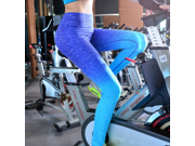 Women's Sexy Yoga Running Pants High Waist Trousers Leggings Fitness Gym Power Space Dye High Waist Yoga Pants Moisture Wicking Athletic Trousers (Size:L/XL) 9SIAAZM54D2050