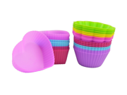 7cm Silicone Cupcake Liners Mold Muffin Cases Muti Round Shape Cup Cake Tools Bakeware Baking Pastry Tools Cake Mold (Heart-shaped) 9SIAAZM5PJ4190