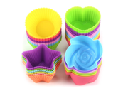 7cm Silicone Cupcake Liners Mold Muffin Cases Muti Round Shape Cup Cake Tools Bakeware Baking Pastry Tools Cake Mold (rose) 9SIAAZM5PJ4221