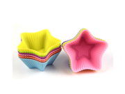 7cm Silicone Cupcake Liners Mold Muffin Cases Muti Round Shape Cup Cake Tools Bakeware Baking Pastry Tools Cake Mold (Five-pointed star) 9SIAAZM5PJ4279