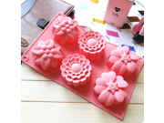 6 Flowers Silicone Muffin Cups Handmade Soap Molds Ice Cupcake Baking Mold Cake Pans Bakeware Polymer Resin Clay Jelly DIY Mold 9SIAAZM5PT7226