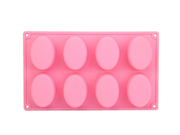 Silicone 8 Eggs Oval Ice Cube Chocolate Cake Cookie Cupcake Soap Molds Tray Mould 9SIAAZM5PY4945