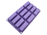 12 Holes rectangular Silicone Mold for Handmade Soap,Jelly,Candle Cake Bakeware 9SIAAZM5R52937