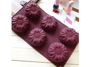 Silicone 6 holes Sunflower Cake Mold Handmade Soap Mold Jelly Mould Color: Randomly 9SIAAZM5RZ8068