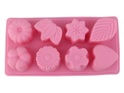 8 Cavities Heart Leaf Flower Silicone Cake Baking Mold Cake Pan Muffin Cups Handmade Soap Moulds Biscuit Chocolate Ice Cube Tray DIY Mold 9SIAAZM5S19510
