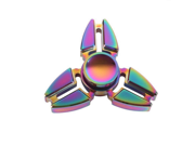 Colorful Hand Spinner Toy Stress Reducer With Premium Bearing Tri-Spinner Fidget - Perfect For ADD, ADHD, Anxiety, and Autism Adult Children - 3 Crab multicolor