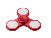 LED Light Fidget EDC Hand Spinner ADHD Focus Fingertip Autism Desk Toy Hand Spinner Glowing in the Dark Finger Spiral Bearing Gyro Toys with Three-leaf