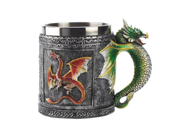 Retro Glittery Paint Dragon Skull Cups Personality Medieval Mythical Dragon Mugs Stainless Steel Office Decorative Cups Exquisite Home Furnishing Articles Decor 9SIAAZM5ZH9538