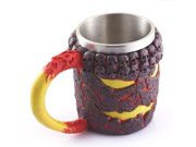 Creative 3D Bronze Skull Lava Monster Mug, Double Wall Resin Stainless Steel Drinking Coffee Cup, Horror Decor Magma Drinkware Caneca Copo Halloween Cool Gift 9SIAAZM5ZH9553
