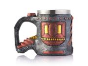 Creative 3D Bronze Skull Lava Monster Mug, Double Wall Resin Stainless Steel Drinking Coffee Cup, Horror Decor Magma Drinkware Caneca Copo Halloween Cool Gift 9SIAAZM5ZH9554