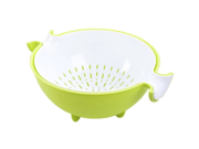 Multifunctional Rotary Drainage Plastic Basket Strainer Creative Double Layer Fruit Colanders Kitchen Wash Basket Plastic Pot Wash Fruit Bowl 9SIAAZM5ZH9658