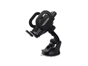 Universal Adjustable Car Bracket - Vehicle Mount For Navigation, GPS and Smartphones - Cell Phone Holder With Suction Cup Design Of Base, Black 9SIAAZM6JH8343