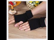 Solid Color Half-finger Gloves Women Warm Keeper Fashion Soft Mitten Winter warm cotton knit gloves 9SIAAZM6SW8536