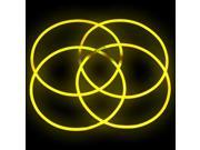 "50 20"" YELLOW Glowing Necklaces Glow Stick Party Treats"