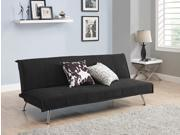DHP Convertible Mica Sofa Sleeper Futon Couch Upholstered in Premium Black Microfiber