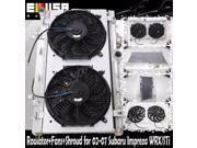 RADIATOR 12 Fan Shroud for 02 07 Subaru WRX STI Manual Transmission ONLY
