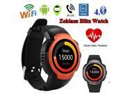 Zeblaze Blitz Smartwatch Android 5.1 Quad Core 1.3GHz 512MB RAM 4GB ROM Waterproof Pedometer Heart Rate Monitor Watch Phone-Orange