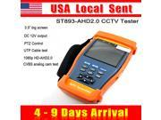 [ Ship from USA !!! ] Professiona ST893AHD Portable 3.5 inch Screen HD 1Mp 1.3Mp 5Mp Analog Camera 720P 1080p AHD AHD2.0 CCTV CVBS VGA Camera Test Tester Monito