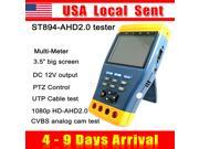 [ Ship from USA !!! ] Professional ST894AHD 3.5 Screen HD 1MP 1.3MP 5MP Analog Camera 720P 1080p AHD AHD2.0 CCTV CVBS Camera Tester Monitor Multi Meter PTZ Con