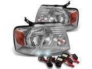 Ford F150 Lincoln Mark LT OE Replacement Headlights+6000K White Slim Ballast HID Xenon Conversion