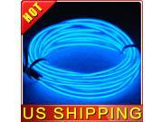 Lychee Blue  9FT-3M Neon Glowing Strobing Electroluminescent Wire, EL Wire For the Burning Man Festival