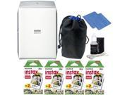 Fujifilm INSTAX SHARE SP 2 Smart Phone Printer Silver Top Accessory Kit