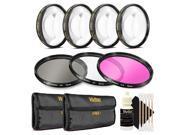 Vivitar 67mm Filter Kit + 67mm Macro Kit with 3pc Cleaning Kit for 67mm Lenses