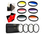Vivitar 67mm Rotating Graduated 6pc Filter + Top Accessory Bundle for 67mm Lens