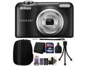 Nikon COOLPIX A10 16.1 MP Compact Digital Camera (Black) + 16GB Accessory Kit (International Version) 9SIAB2G58X9664