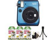 Fujifilm Instax Mini 70 Instant Film Camera with 60 Film + Cleaning Kit Blue