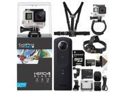 GoPro Hero4 Black Edition Camera plus Ricoh Theta S Digital Camera More