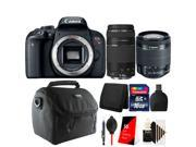 Canon EOS Rebel T7i / 800D 24.2MP Built-In Wi-Fi with NFC Full HD 1080p with NFC DSLR Camera with 18-55mm + 75-300mm Lens Kit 9SIAB2G5XX6506