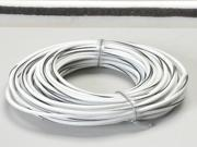 K-Four White 18 Gauge Wire With Black Stripe - 100 Feet