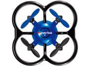 WonderTech Firefly RC 6-Axis Gyro Remote Control Quadcopter Flying Drone with LED Lights, Blue
